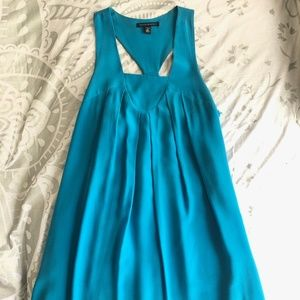 Turquoise Racer Back Tank Dress